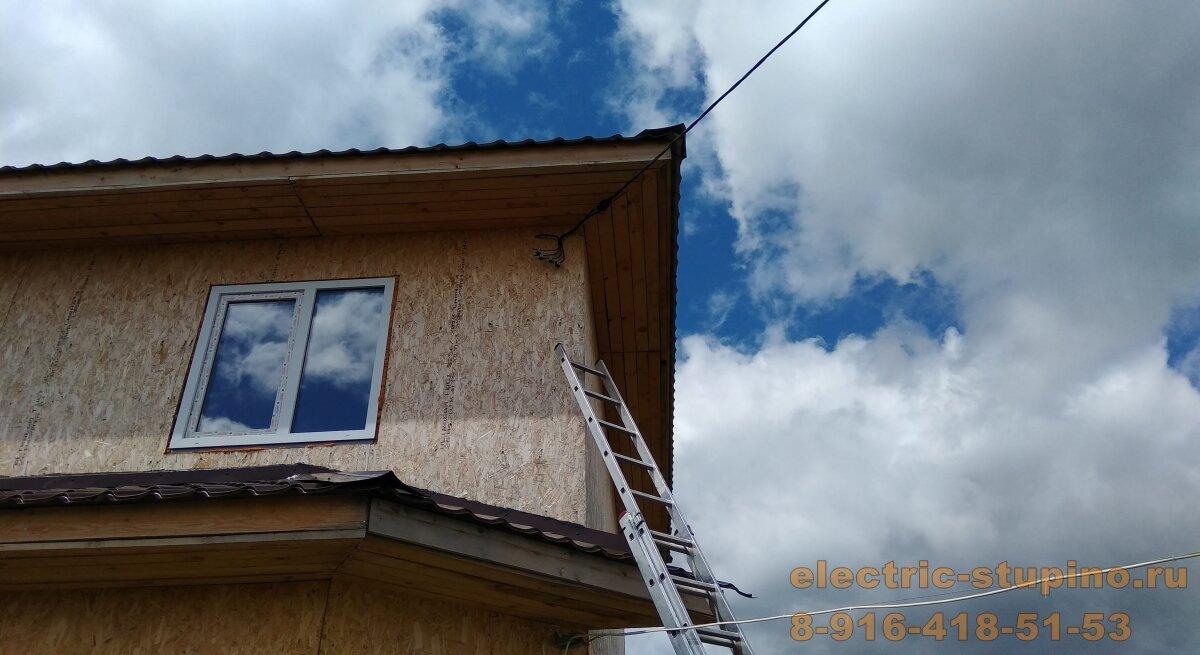 Крепление СИП 4*16 к стене дома