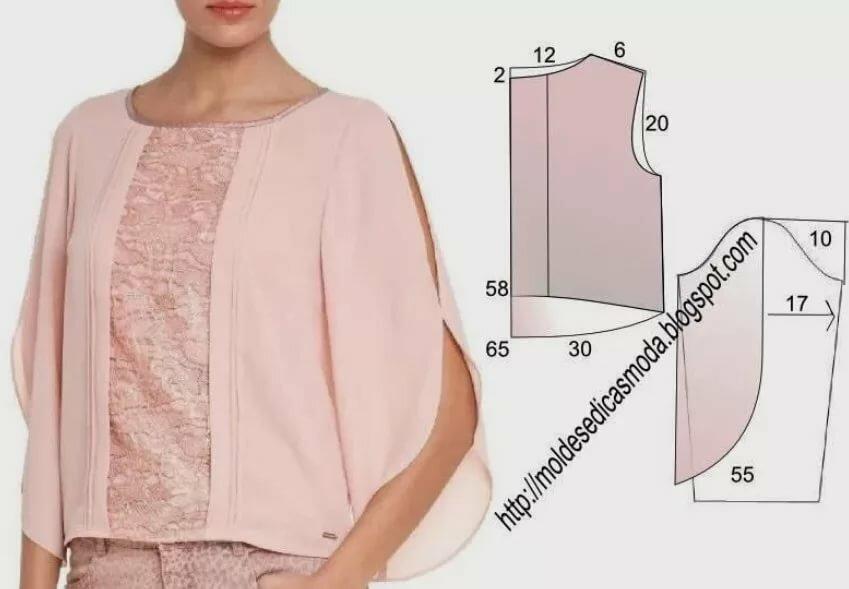 выделить, как сшить свободную блузку пошагово с фото кого