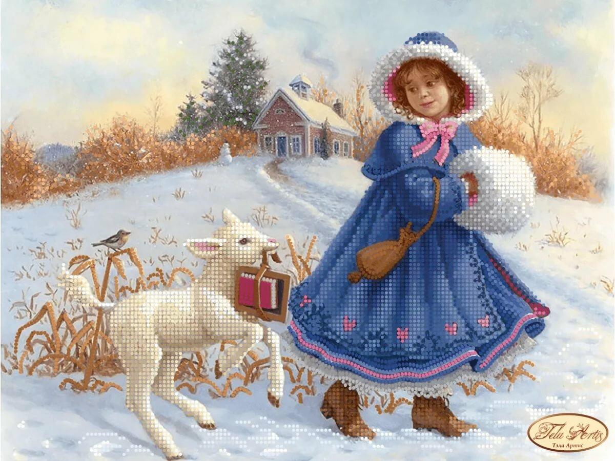 Ретро картинки зимние