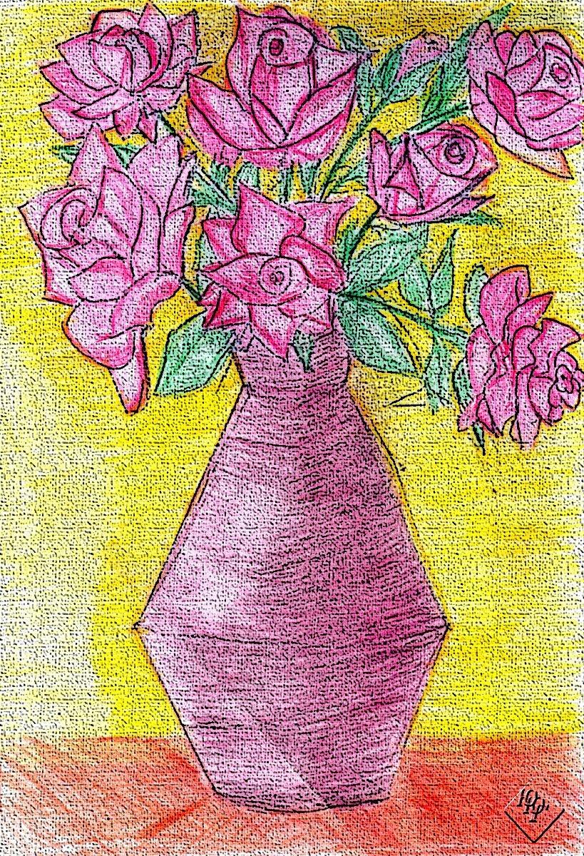 сами картинка ваза с цветами художника цветными карандашами вот насколько