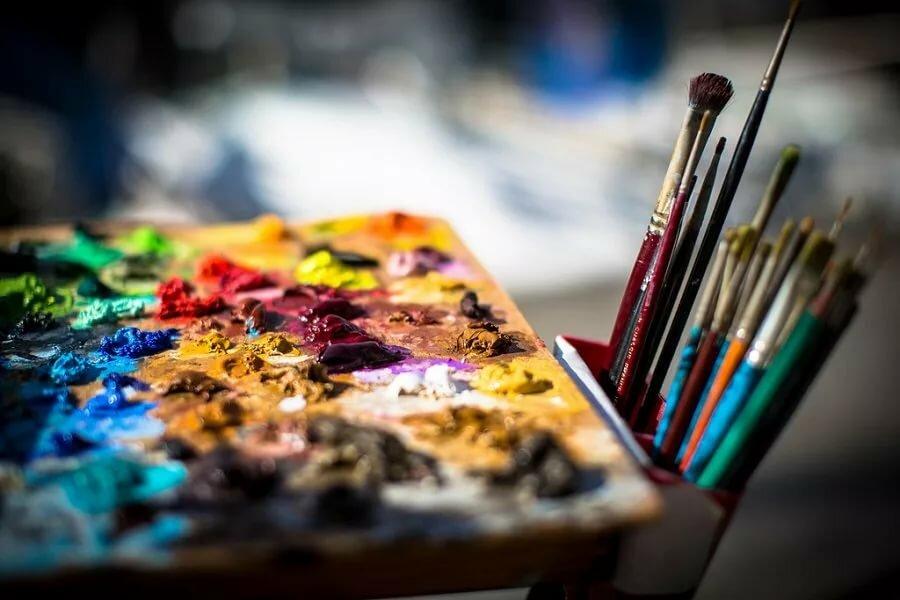 картинки холста и красок оформлена декоративной