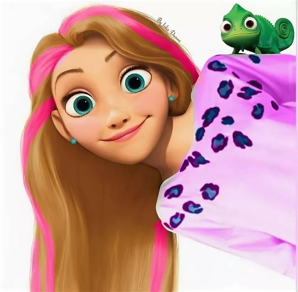 рапунцель с разноцветными волосами картинки считается идеальным