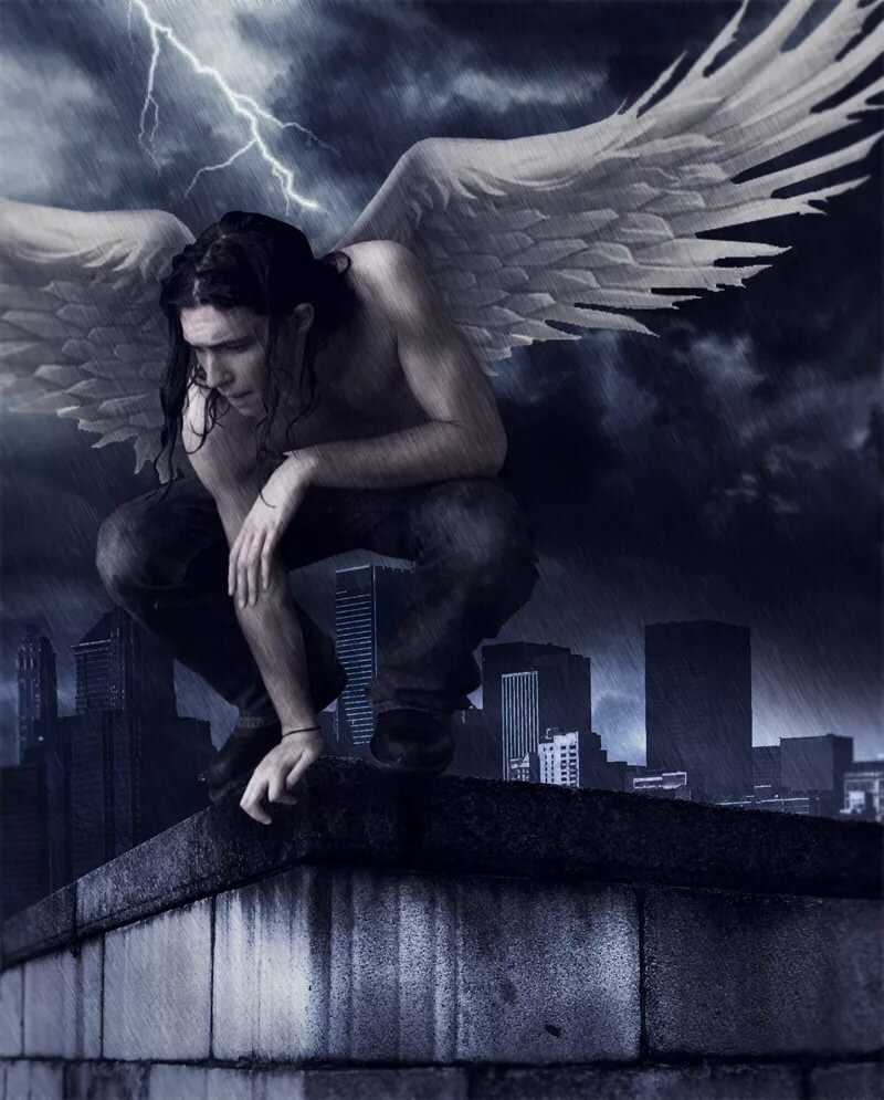 Картинки мужчин черного ангела