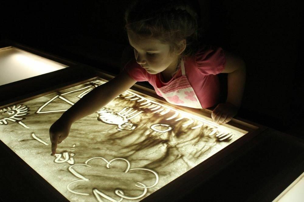 Детский светящийся планшет воображай песком в Первоуральске