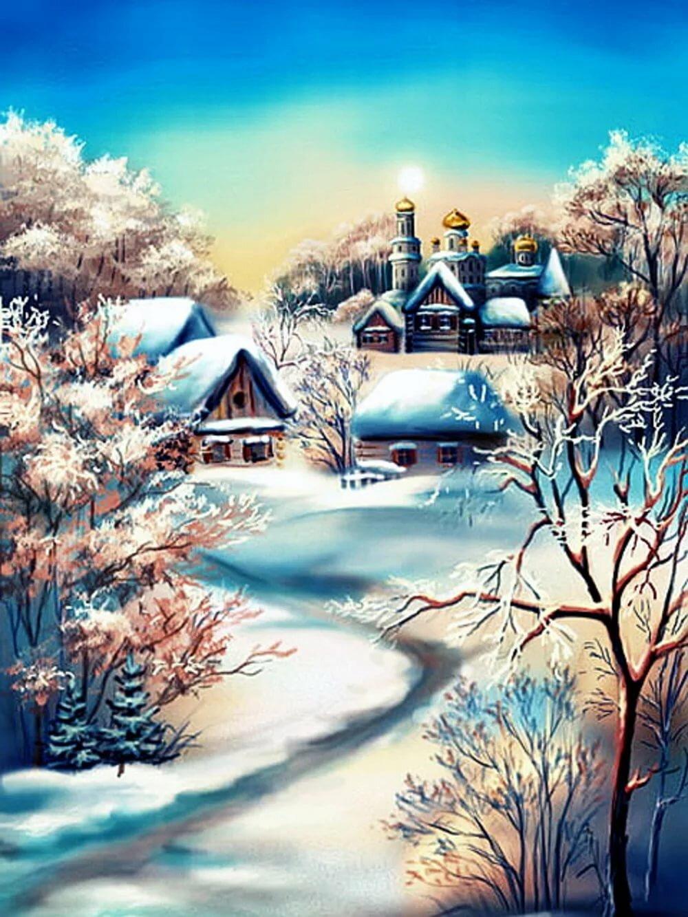 православному зимний пейзаж картинки книжный формат успела побывать только