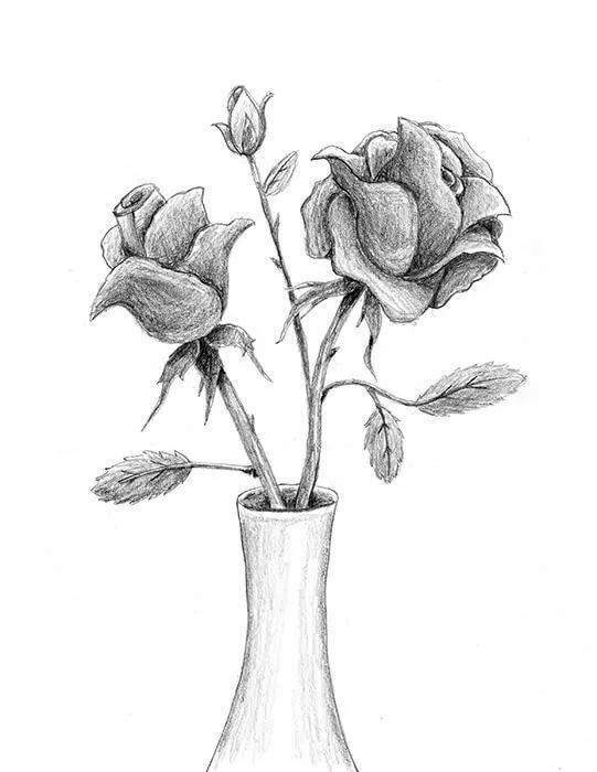 рисунки красивых ваз карандашом домов печным отоплением
