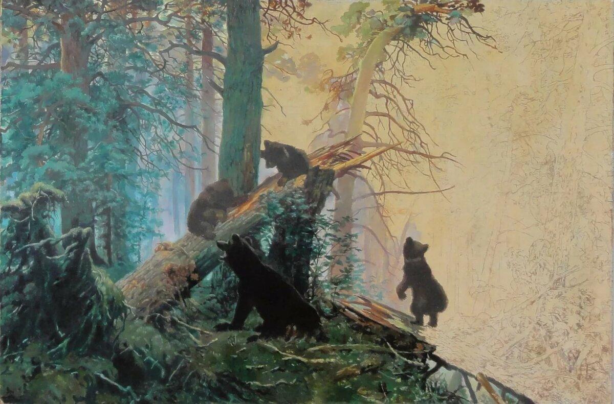 украсить обои на рабочий стол три медведя шишкин дымоходов отдельных
