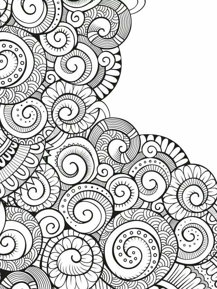 Картинки для распечатки черно белые дудлинг