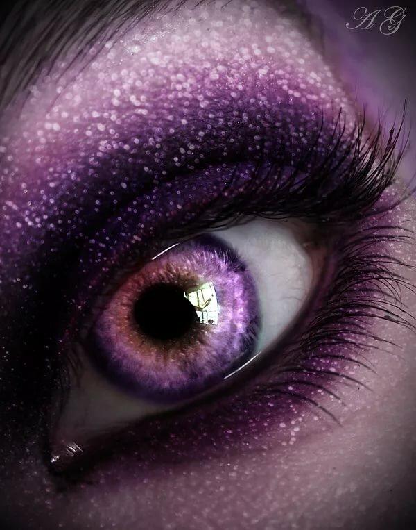 Картинки фиолетовые глаза у человека