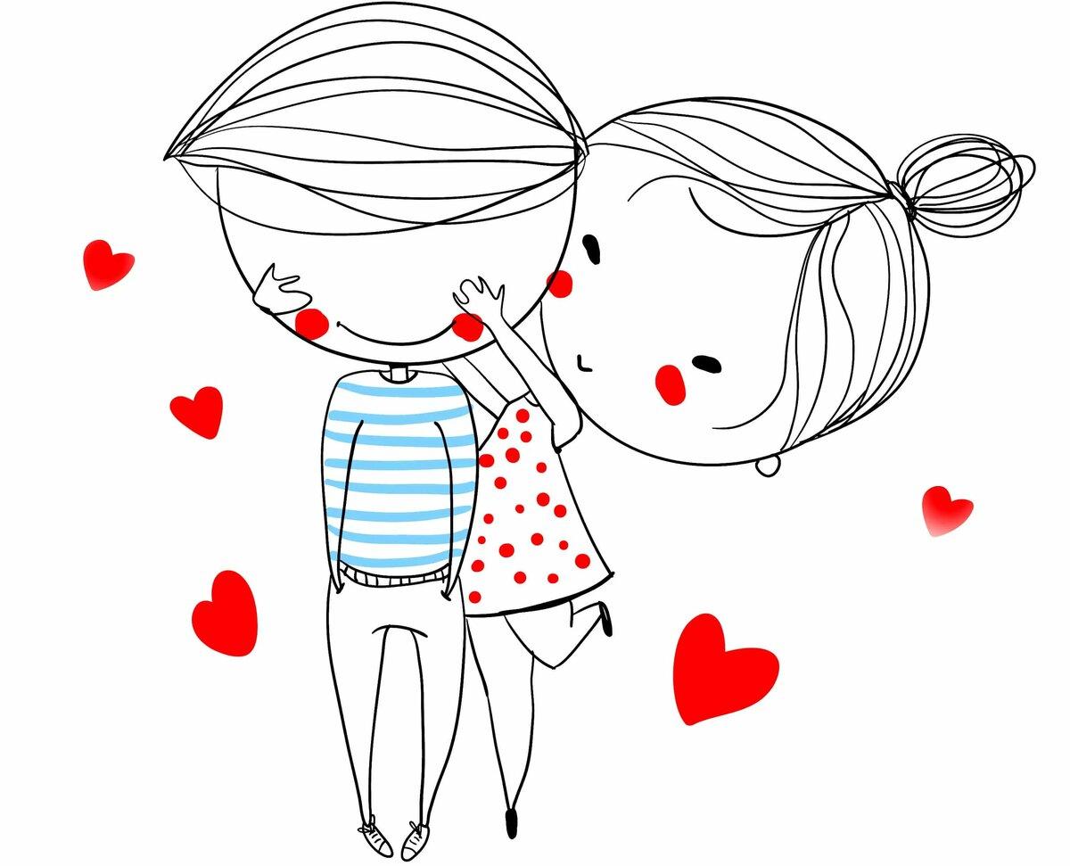 Картинки ко дню влюбленных нарисованные