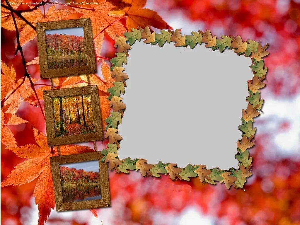 Осенние фоторамки для фотографий
