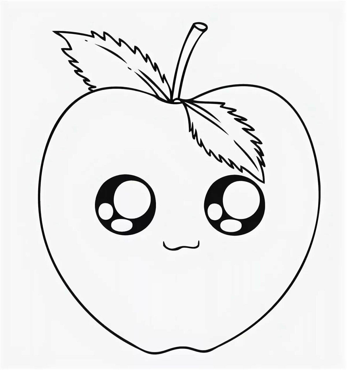 Картинки яблонь для срисовки