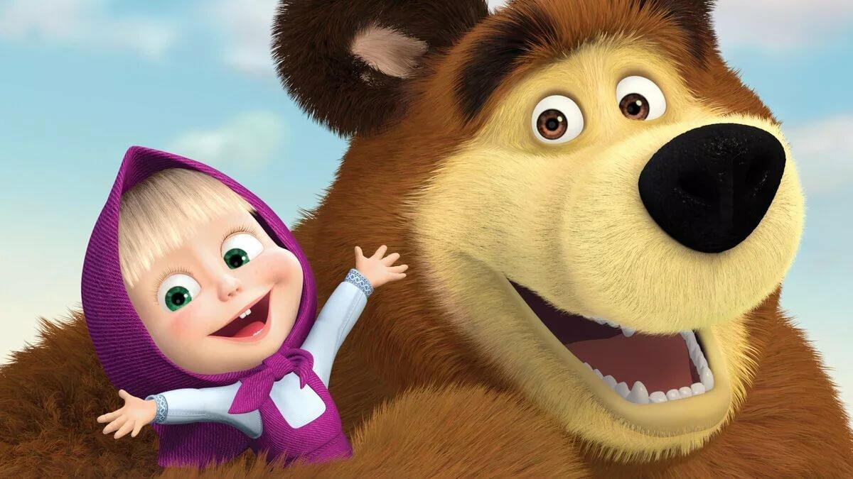 Открытки к мультику маша и медведь, рождением дочки