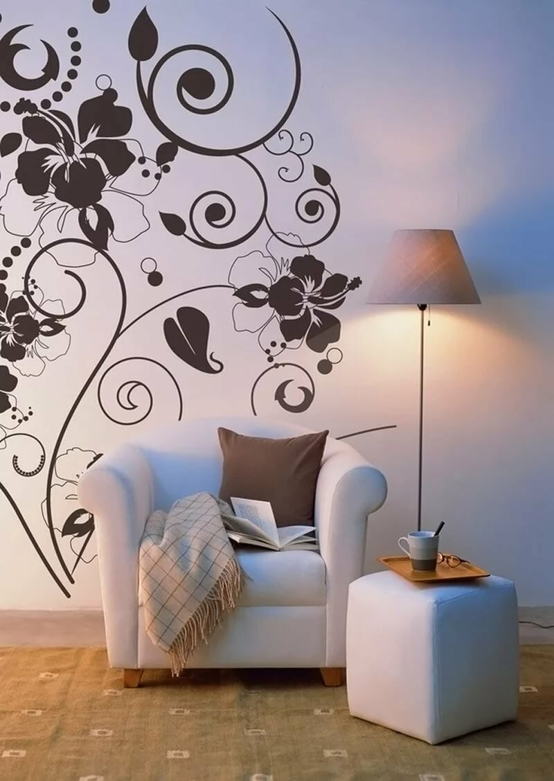 роспись стен по трафарету картинки