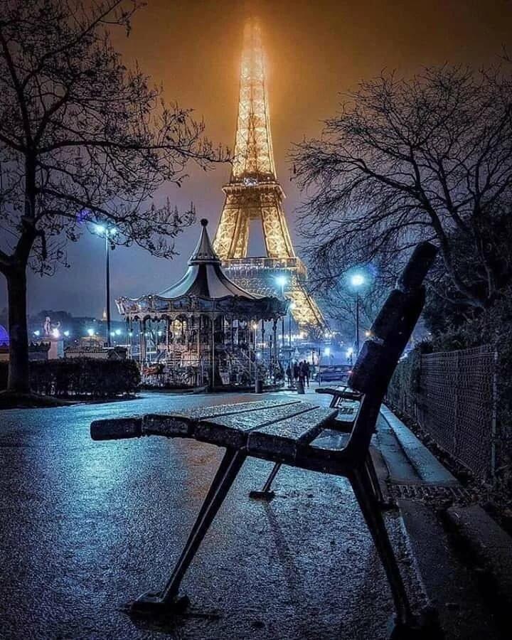 красивые картинки эйфелева башня ночью украшения