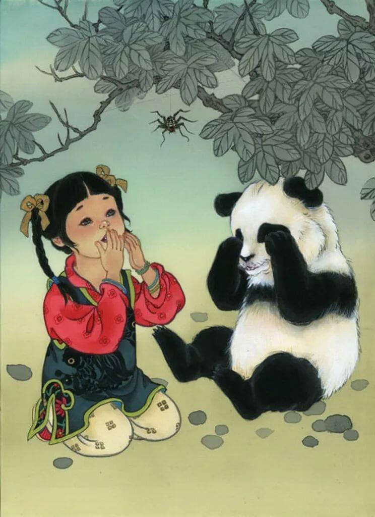 Открытка с китайским ребенком, пираты