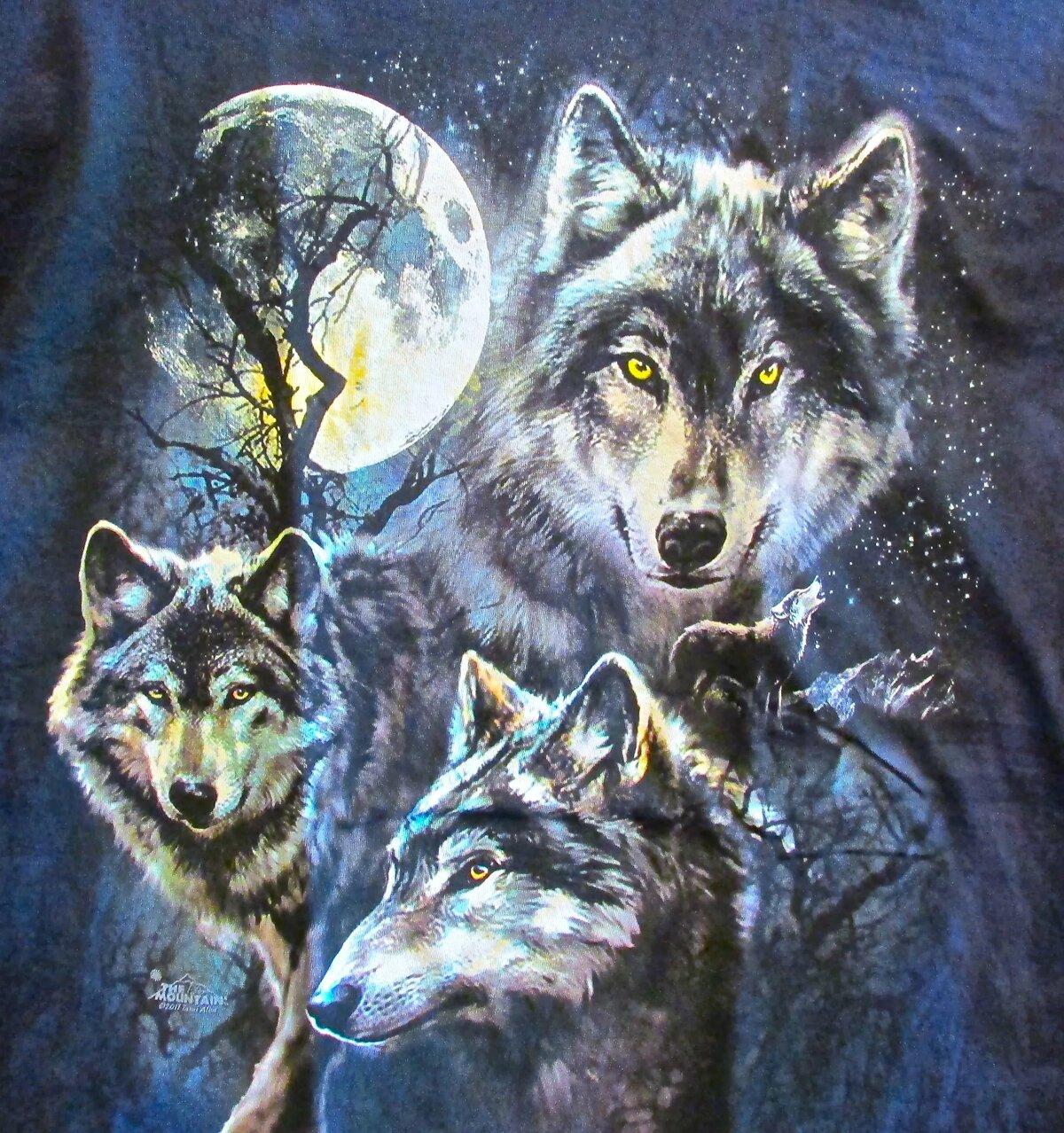 Северные волки картинки для декупажа