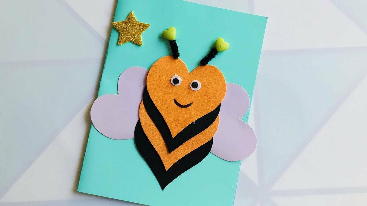 Аппликация открытка с днем рождения