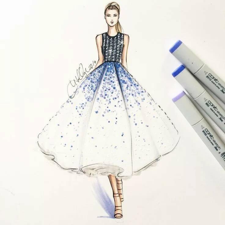 Красивые платья рисунки дизайна карандашом
