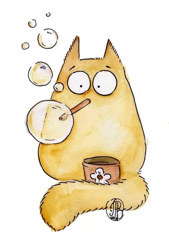 Прикольные рисунки котиков для срисовки, картинки