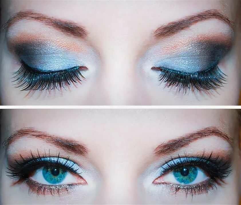 картинки макияжа под синее платье желающий