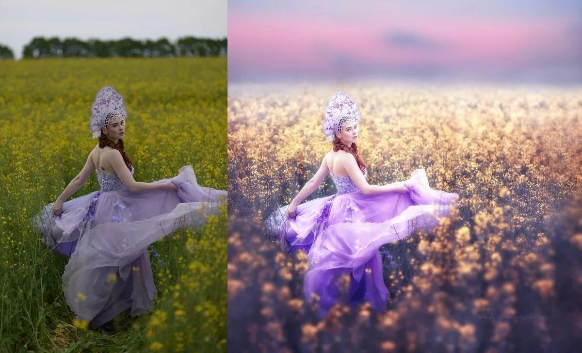 Цветокоррекция фото чистые цвета