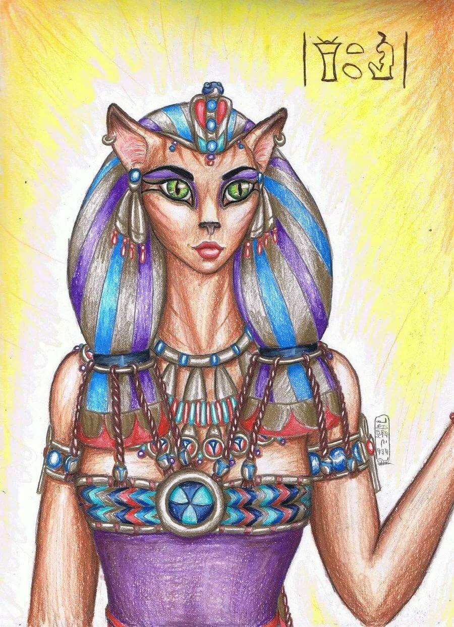 Богиня кошек египет картинки