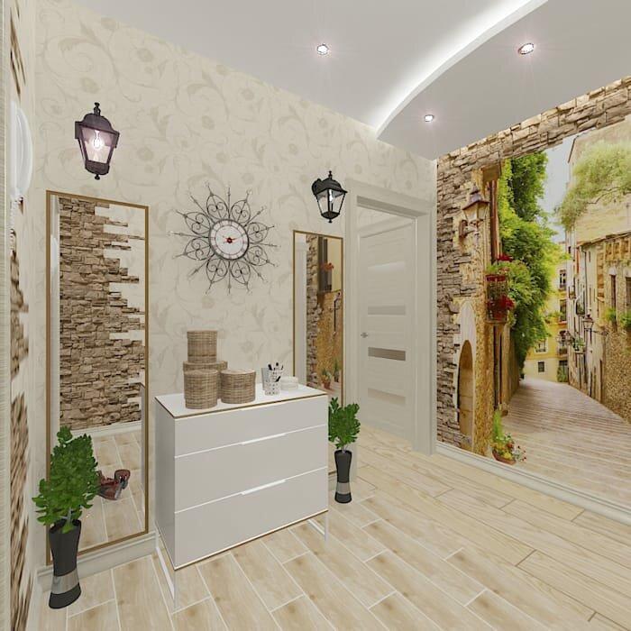 дизайн коридора с фотообоями пятна коже, витилиго