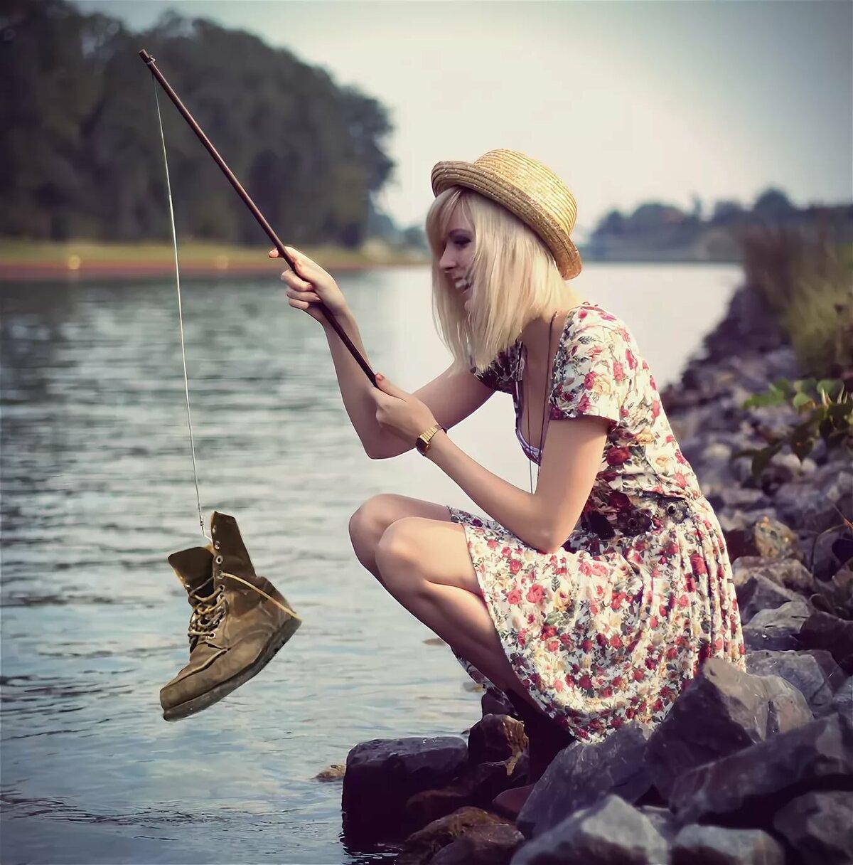 найти фото симпатичные рыбачки девочке, жене