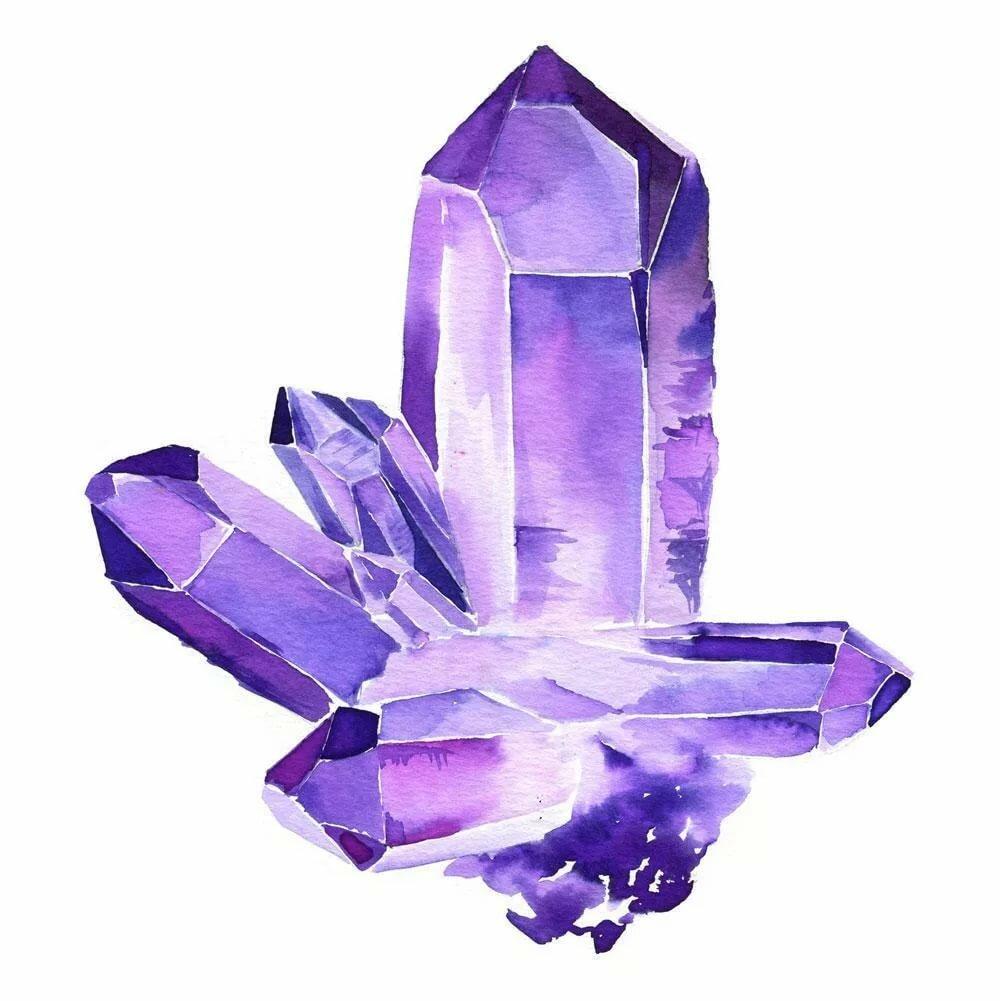 рисунок кристаллов аметиста семян