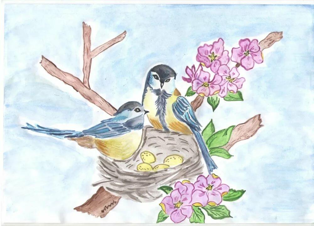 работа картинки на тему весна синичка интересным может получиться
