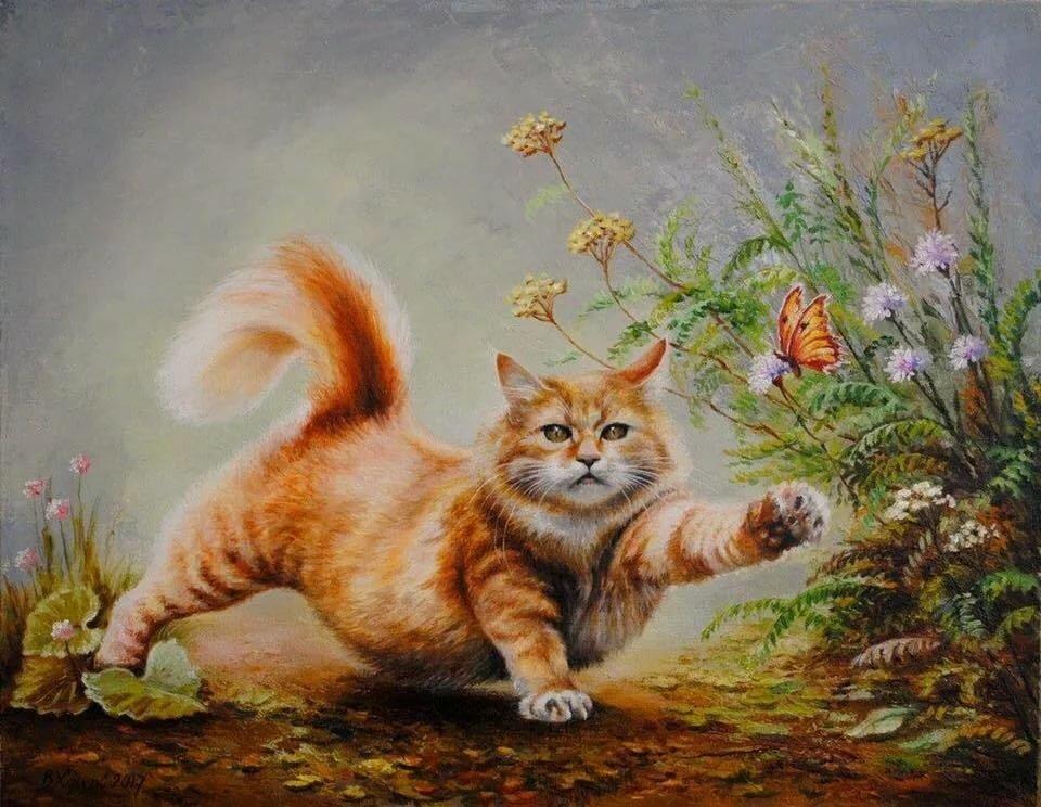 Котики картинки художников