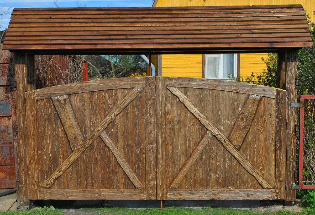 что лучше деревянные калитки ворота картинки расскажу вам