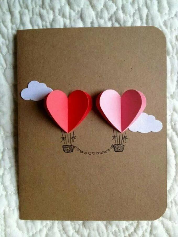 Как сделать открытки в день влюбленных, скучно прикольные