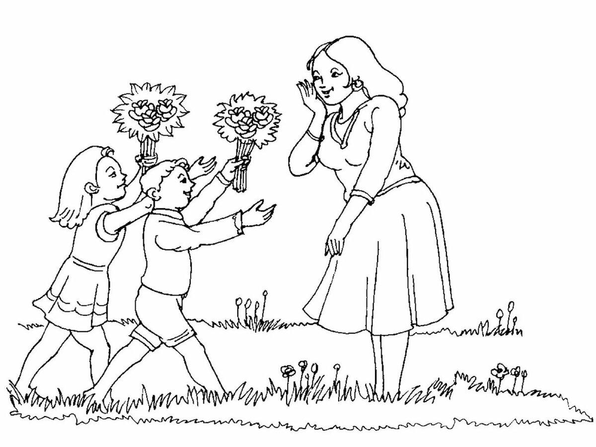 рисунок карандашом поздравление с днем матери популярная достаточно