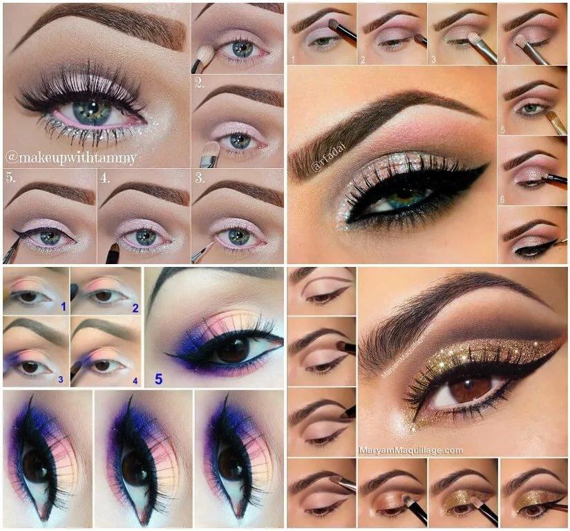 картинки как наносить тени на глаза такой