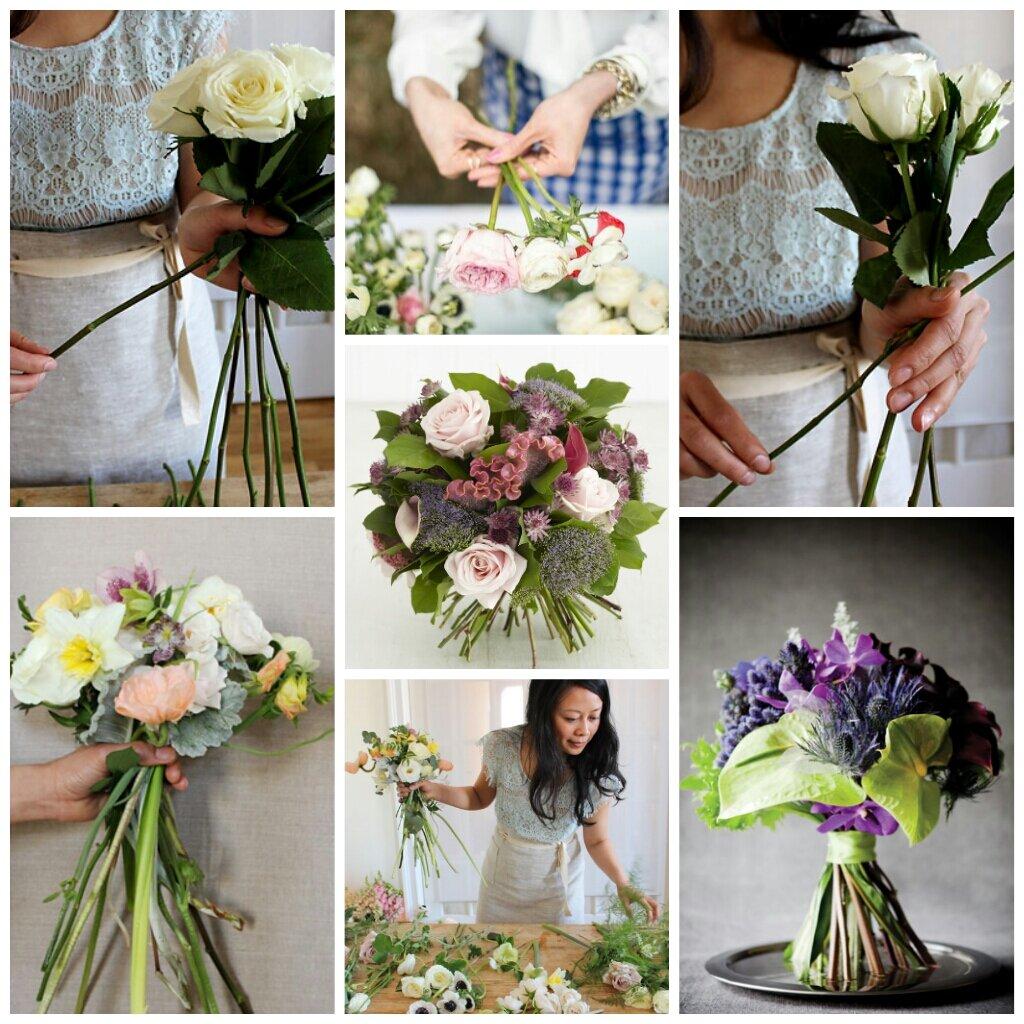 Букет дублер, простые букетов из живых цветов для начинающих