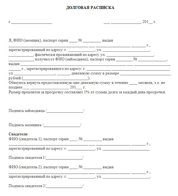 займ в ставрополе под расписку удержания из зарплаты по договору займа