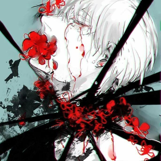 Из аниме картинки из крови