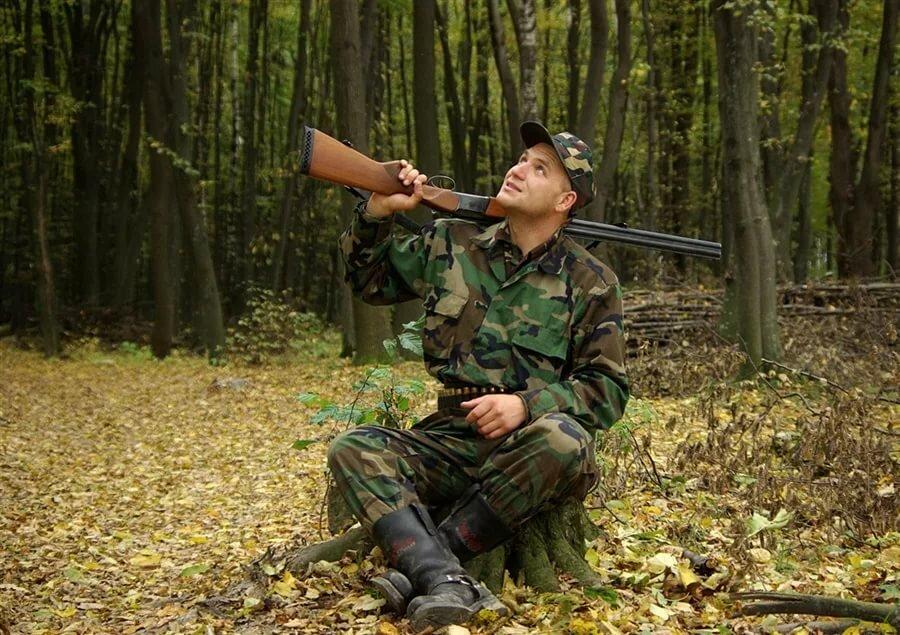 картинка идут охотники
