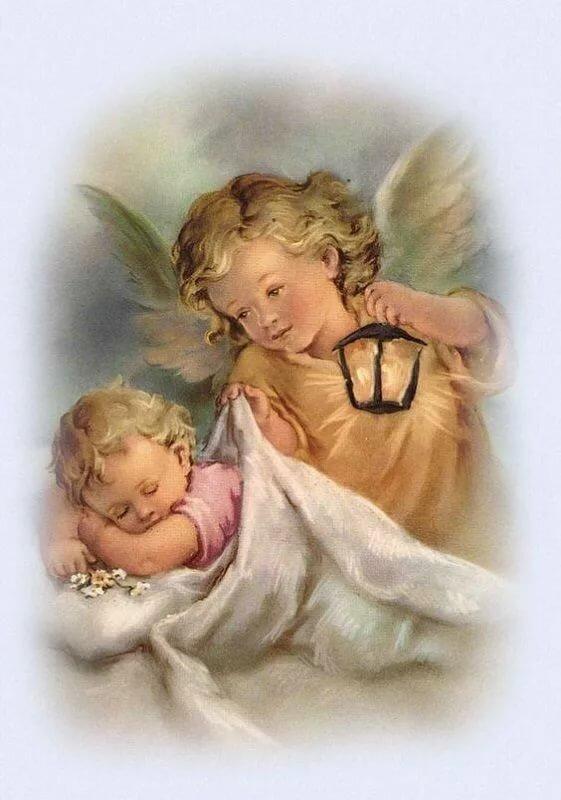 Открытки с ангелом хранителем для детей
