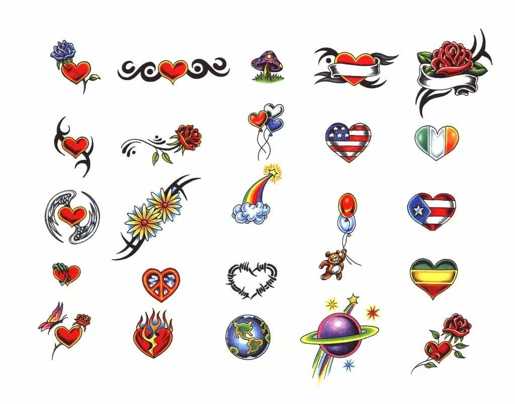 Картинки для татуировок для детей легко рисующие вся