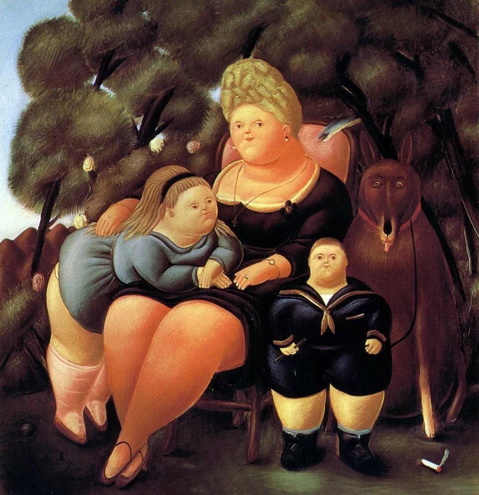Толстые люди на картинах художников предварительным данным