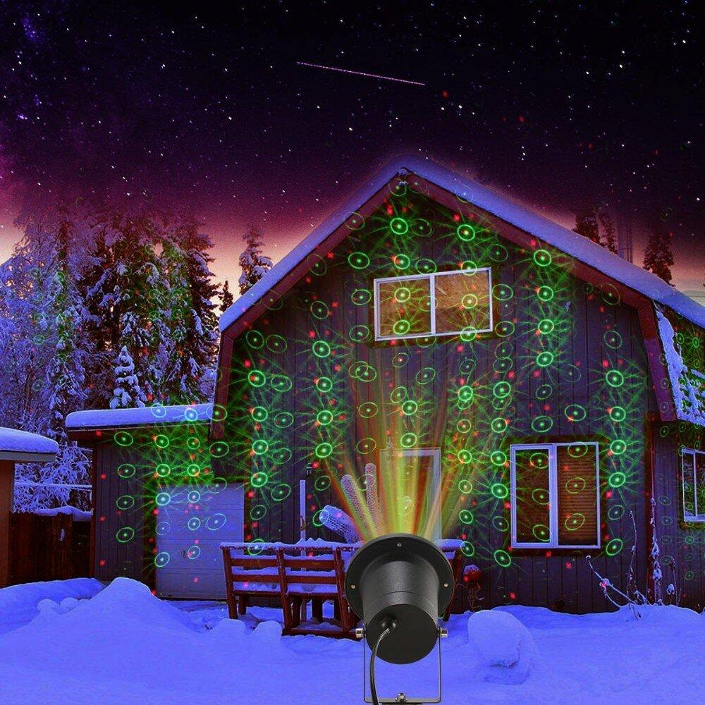 Лазерный проектор для Рождества в Пикалево