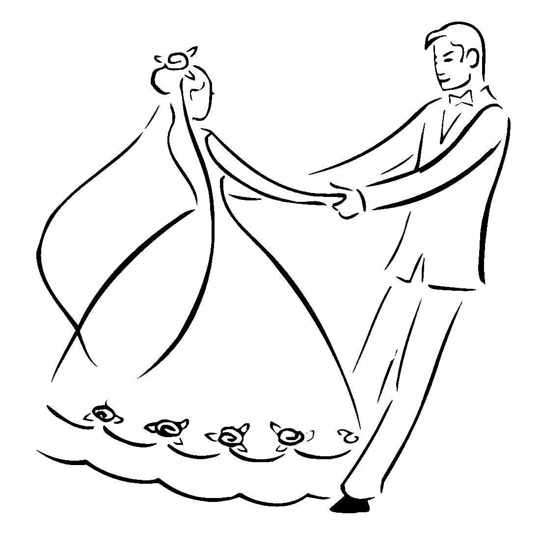 Как нарисовать рисунок на свадьбу