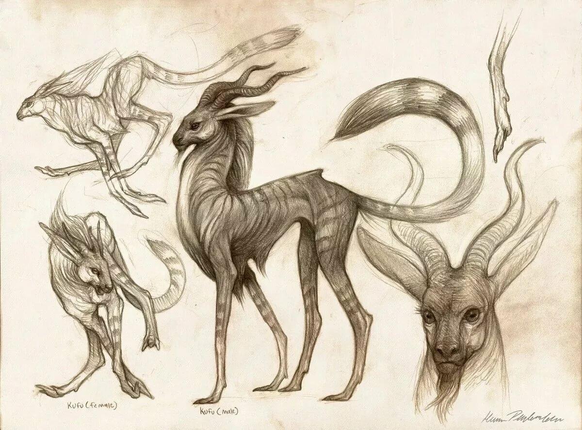 Картинки мистические существа для срисовки