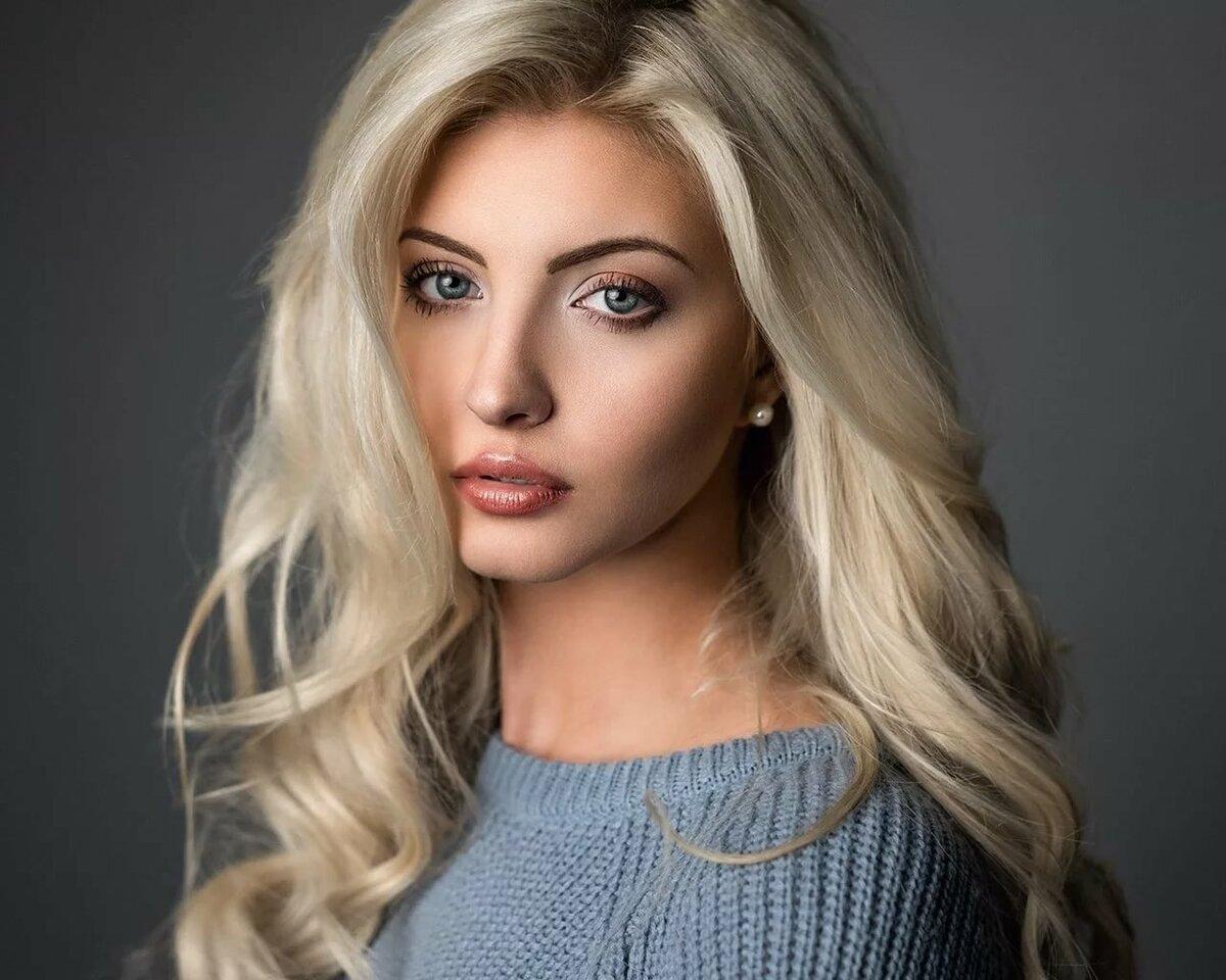 Красивые картинки девушек блондинок с длинными волосами