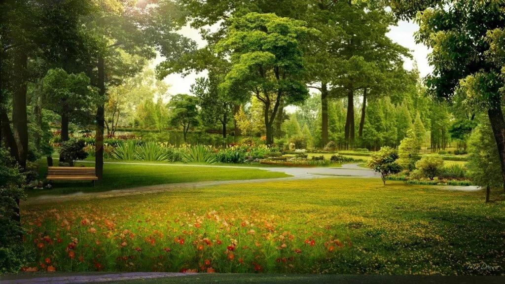 Учительнице новый, открытки красивых парков