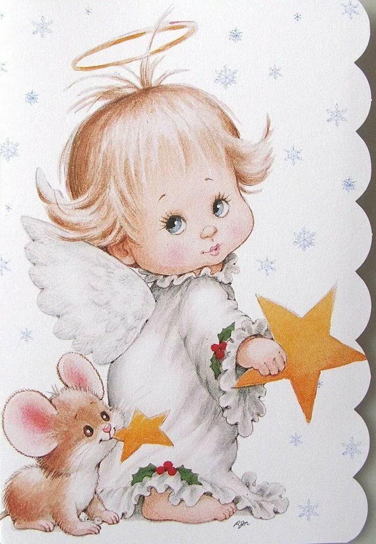 ангелочек рисунок картинка природный