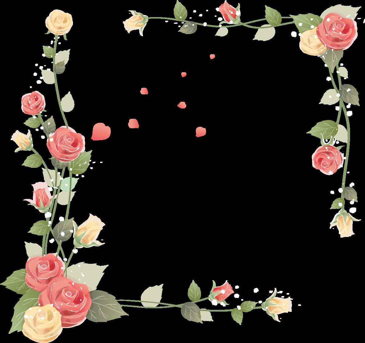 Открытка с цветами в углу, планета